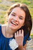 Adolescent avec des boutons Image libre de droits