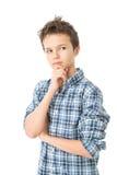 Adolescent avec du charme réfléchi Photos libres de droits