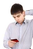 Adolescent avec la carte de crédit photographie stock