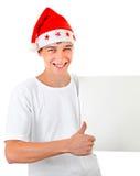 Adolescent avec le conseil vide Images stock