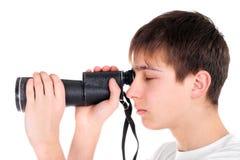 Adolescent avec le monocle Images libres de droits