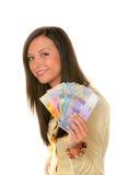 Adolescent avec les francs suisses Images stock