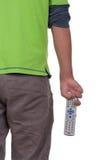 Adolescent avec un panneau de commande Image stock
