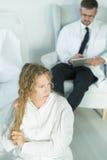 Adolescent avec un trouble bipolaire image stock