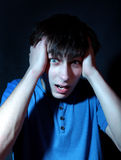 Adolescent chargé photo libre de droits