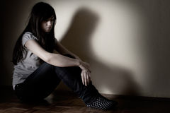 Adolescent déprimé Images stock