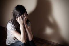 Adolescent déprimé photographie stock libre de droits