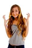 Adolescent dans la pose d'excitation photos stock