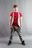 Adolescent de gratte-cul Photo stock