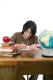 Adolescent de nouveau à l'école Image libre de droits