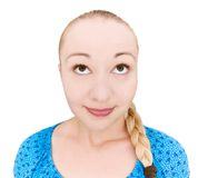 Adolescent de sourire recherchant Photo libre de droits