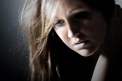 Adolescent déprimé Photographie stock