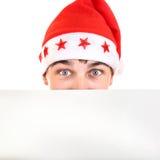 Adolescent en Santa Hat images libres de droits