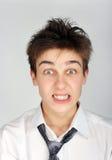 Adolescent fâché Image stock
