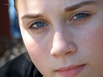 Adolescent Female. Portrait of a fourteen years old girl stock images