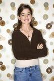 Adolescent female portrait. Portrait of a caucasian adolescent female royalty free stock photography