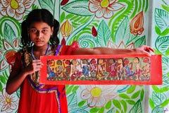 Adolescent Folk Painter Royalty Free Stock Photos