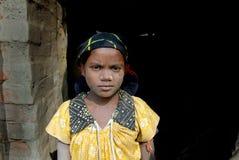 Adolescent girl in brick-field Stock Photo