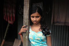 Adolescent Girl in India Stock Images