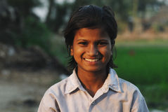 Adolescent girl in India Stock Photo
