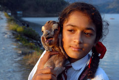 Adolescent Girl in Nepal Stock Image