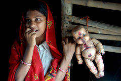 Adolescent Girl in rural India Stock Images