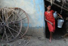 Adolescent Girl in rural India Stock Photos