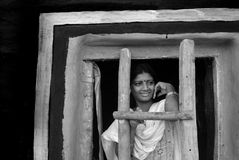 Adolescent Girl in rural India Stock Photo