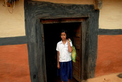 Adolescent Girl in rural India Stock Photo