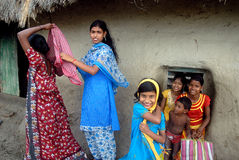 Adolescent Girl in rural India Royalty Free Stock Image