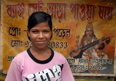 Adolescent Girl At Slum Area Royalty Free Stock Image