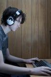 Adolescent hanté par ordinateur No.2 Image libre de droits