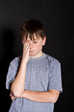 Adolescent headache Royalty Free Stock Images