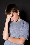 Adolescent headache Stock Photo