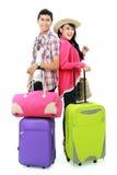 Adolescent heureux partant en vacances Image stock
