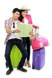 Adolescent heureux partant en vacances Photos libres de droits