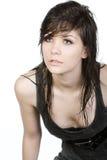 adolescent mignon de cheveu humide image stock