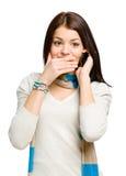 Adolescent parlant au téléphone Images libres de droits
