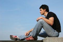 Adolescent pensif Photographie stock libre de droits