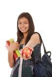Adolescent prêt à retourner à l'école image stock