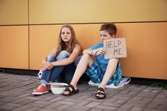 Phénomène des sans-abri Photographie stock