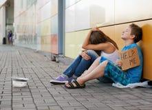 Phénomène des sans-abri Image libre de droits