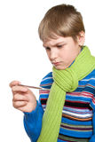 Adolescent temperature. Royalty Free Stock Image
