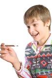 Adolescent temperature. Stock Image
