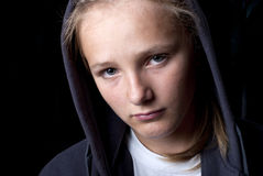 Adolescent triste image libre de droits