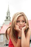 Adolescent triste Photo stock