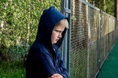 Adolescent triste de renversement Images libres de droits