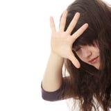 Adolescente abusada Fotos de archivo libres de regalías