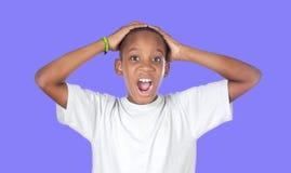 Adolescente africano sorprendido Fotografía de archivo libre de regalías