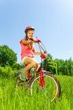 Adolescente agradable en la bicicleta Fotos de archivo